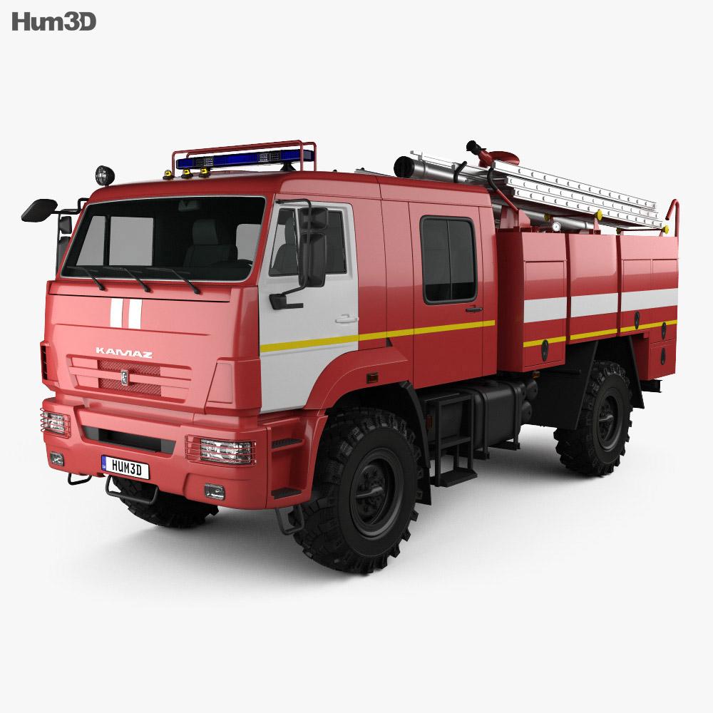 KamAZ 43502 Fire Truck 2017 3d model
