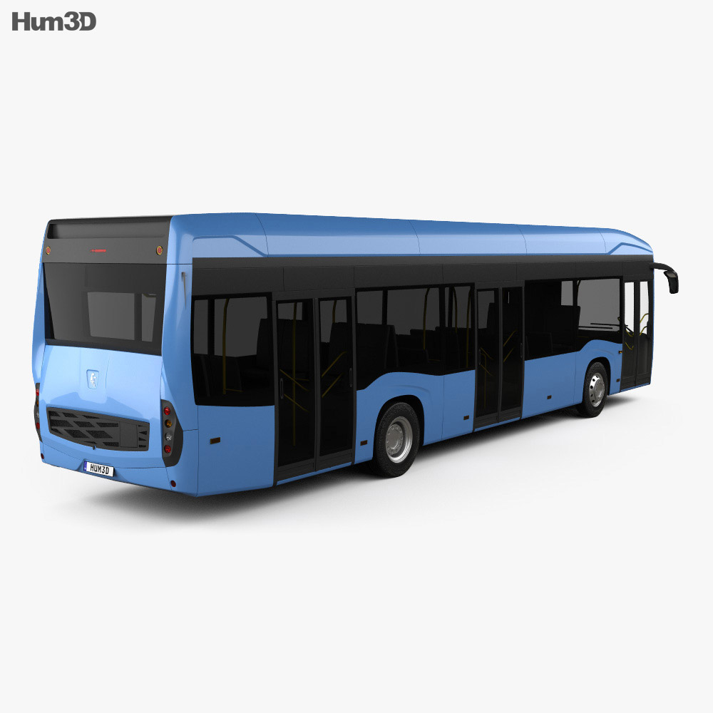 KamAZ 6282 Bus 2018 3d model