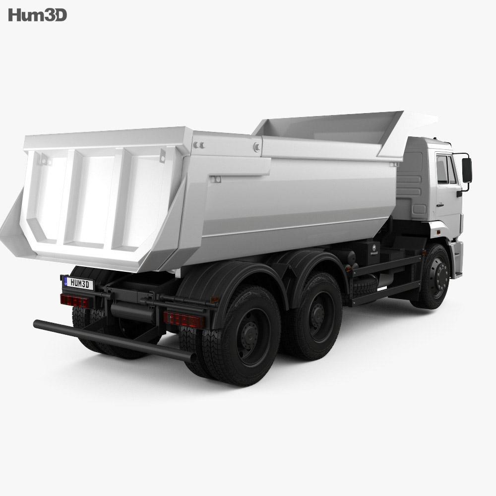 Kamaz 6520 Tipper Truck 2009 3d model