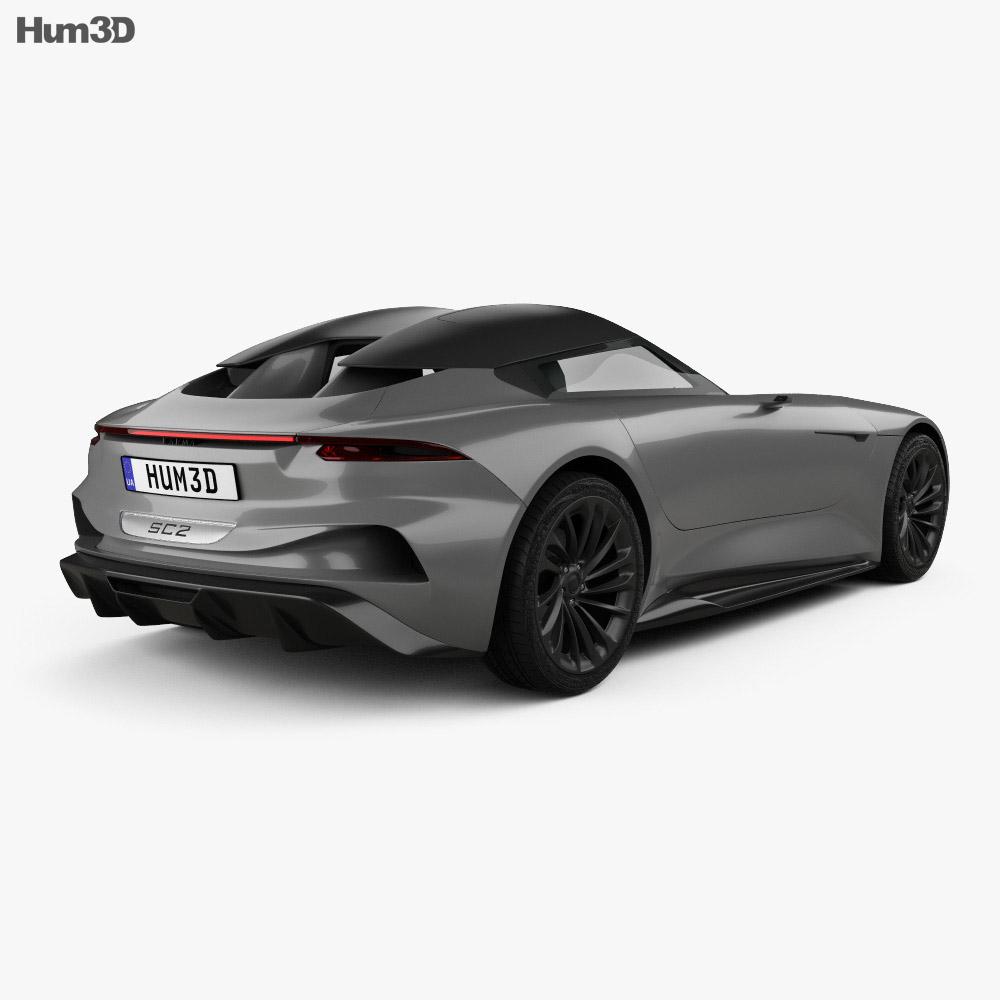 Karma SC2 2019 3d model back view