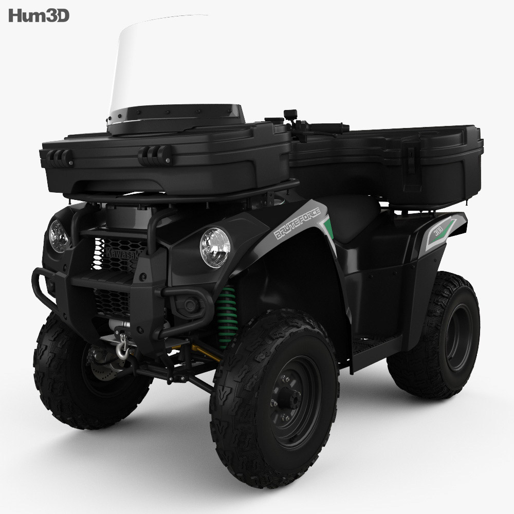 Kawasaki Brute Force 300 2016 3d model