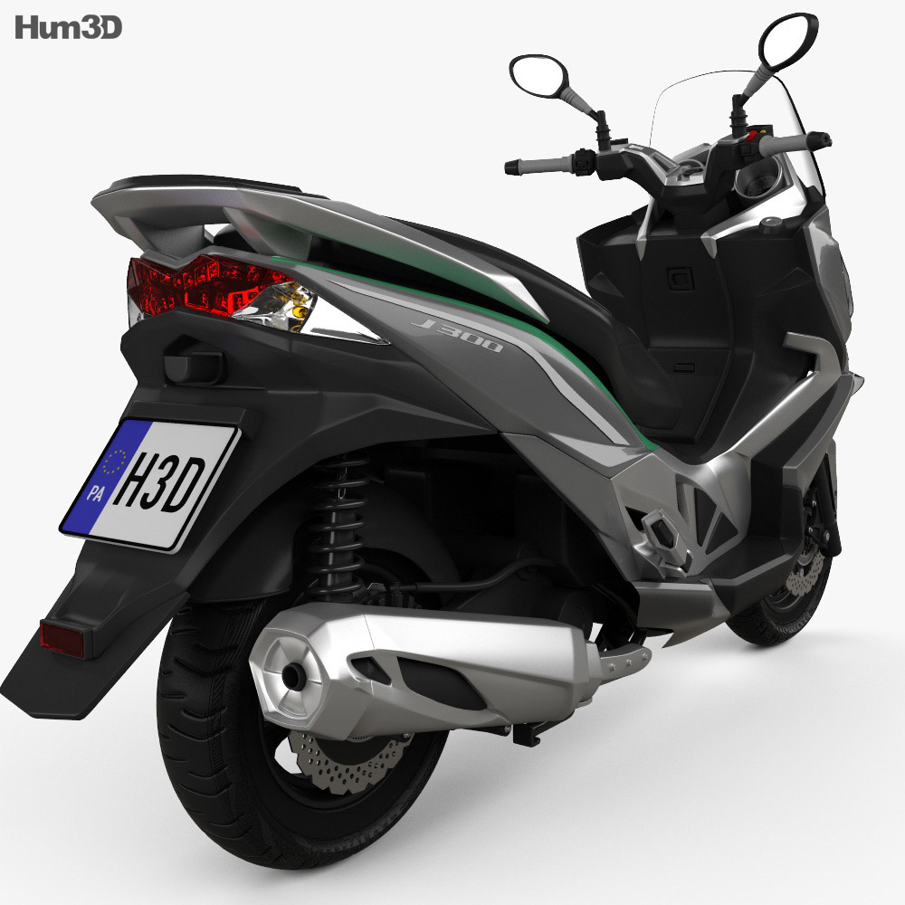 Kawasaki J300 2014 3d model