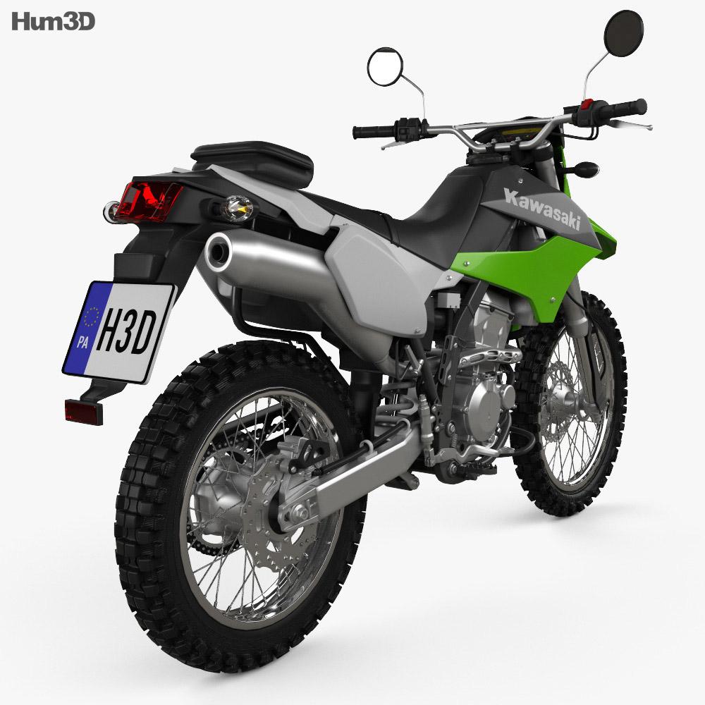 Kawasaki KLX250 2014 3d model