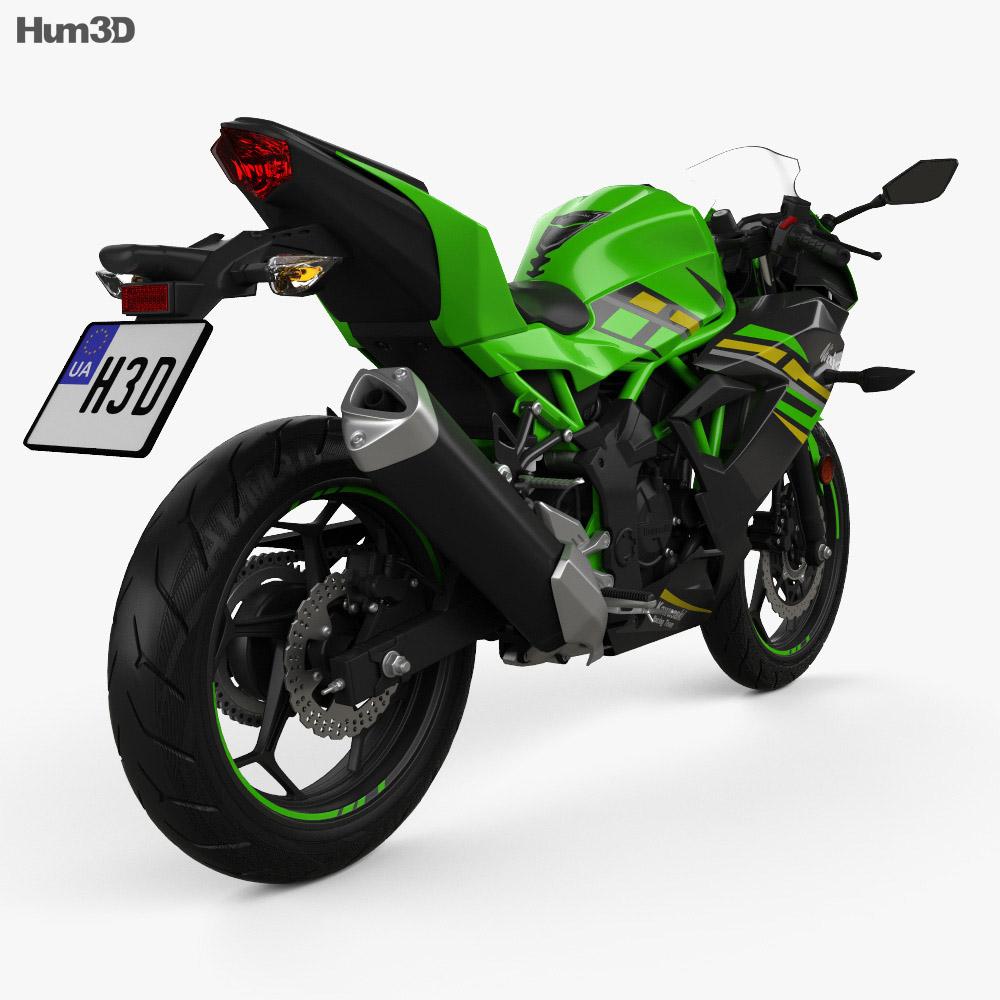 Kawasaki Ninja 125 2019 3d model