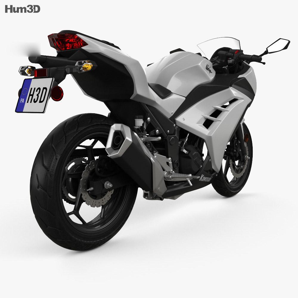 Kawasaki Ninja 300 2014 3d model