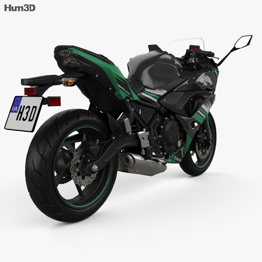 Kawasaki Ninja 650 2017 3d model
