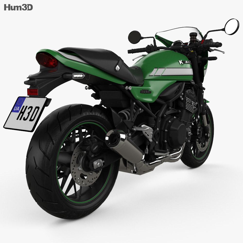 Kawasaki Ninja Z900RS Cafe 2018 3d model