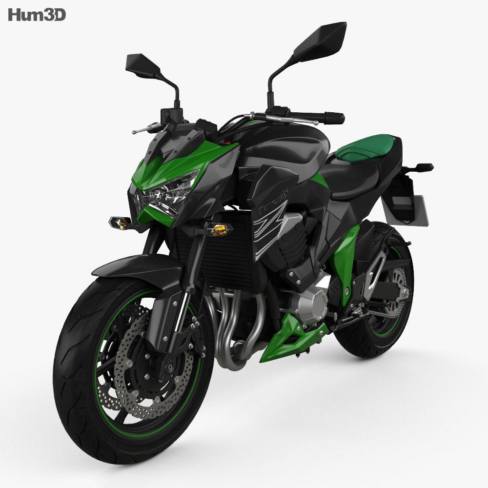 Kawasaki Z800 2014 3d model
