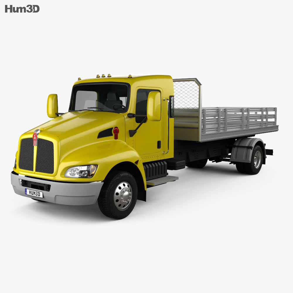 Kenworth T170 Flatbed Truck 2009 3d model