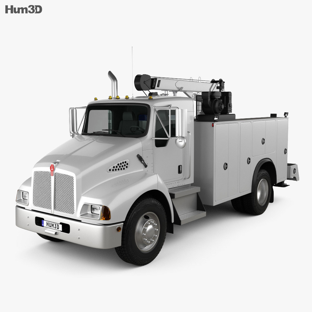 Kenworth T300 Heavy Service Truck 2006 3d model