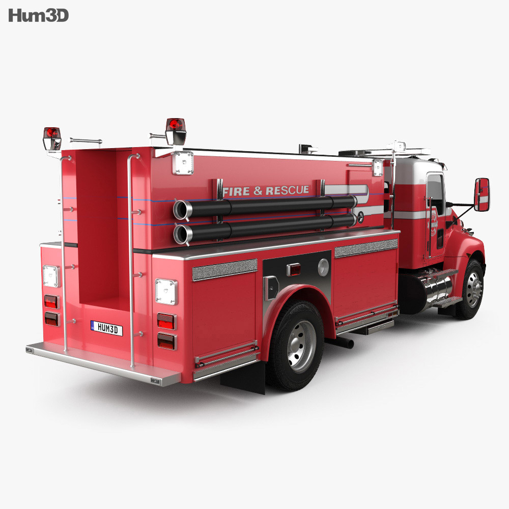Kenworth T370 Fire Truck 2009 3d model