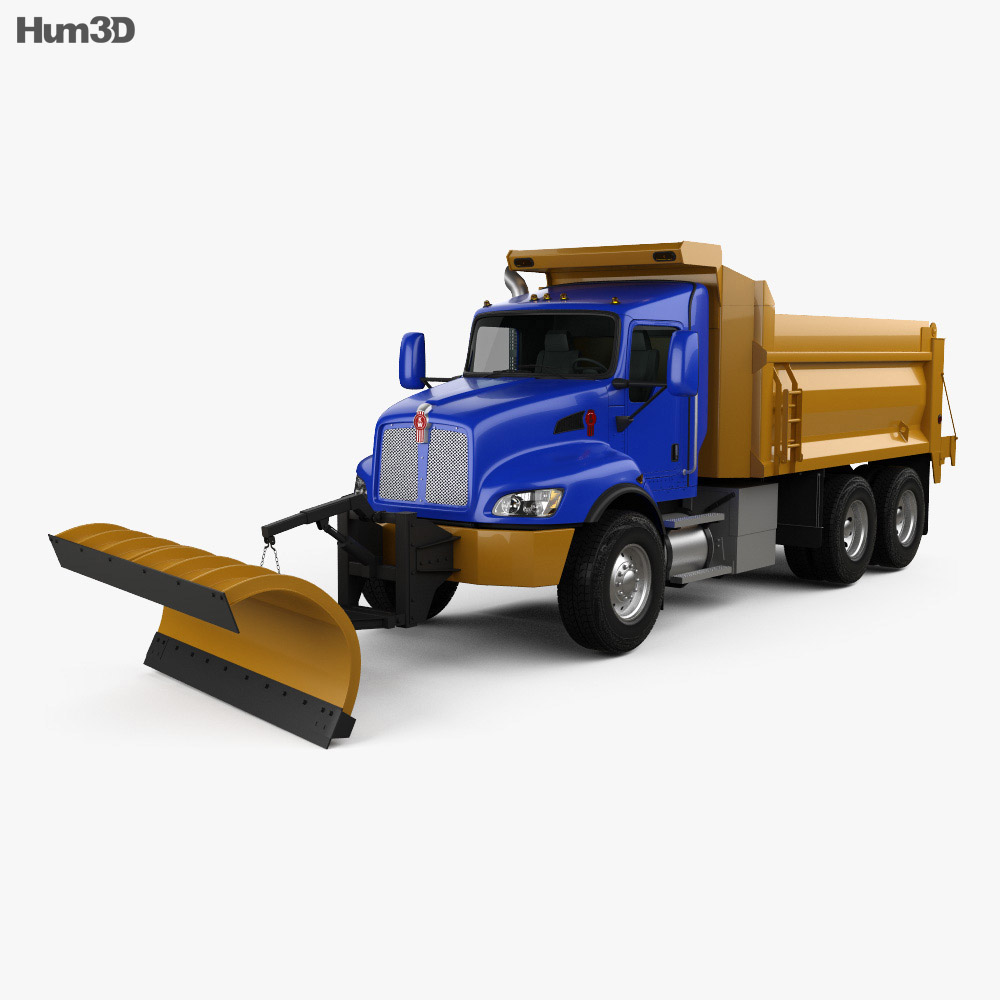 3D model of Kenworth T470 Road Cleaner Truck 3-axle 2009