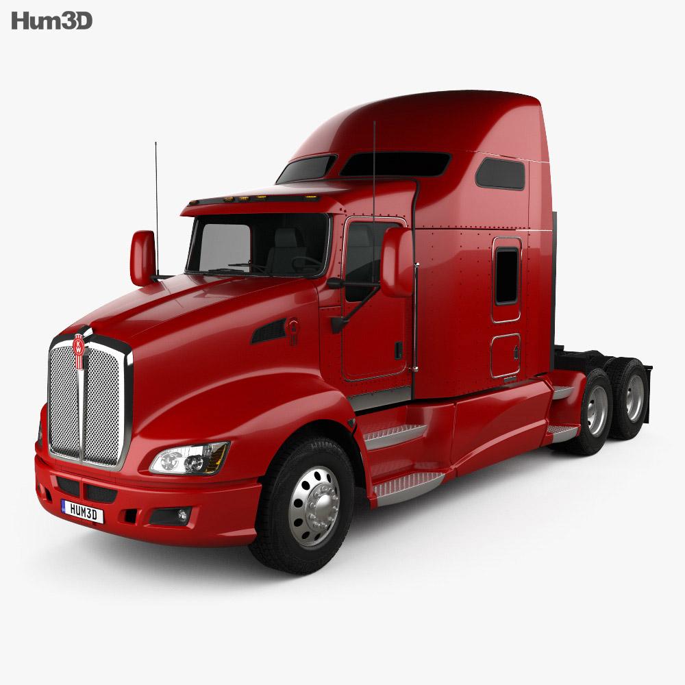 kenworth t660 tractor truck 2008 3d model humster3d. Black Bedroom Furniture Sets. Home Design Ideas