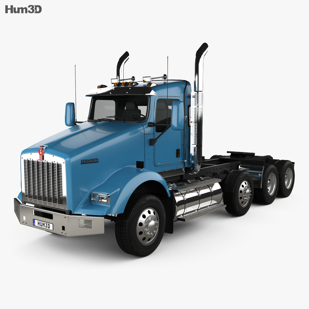 Discount Car Parts >> Kenworth T800 Chassis Truck 4-axle 2005 3D model - Humster3D