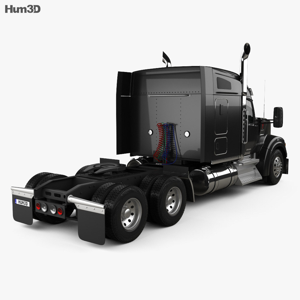 Kenworth W990 72-inch Sleeper Cab Tractor Truck 2018 3d model