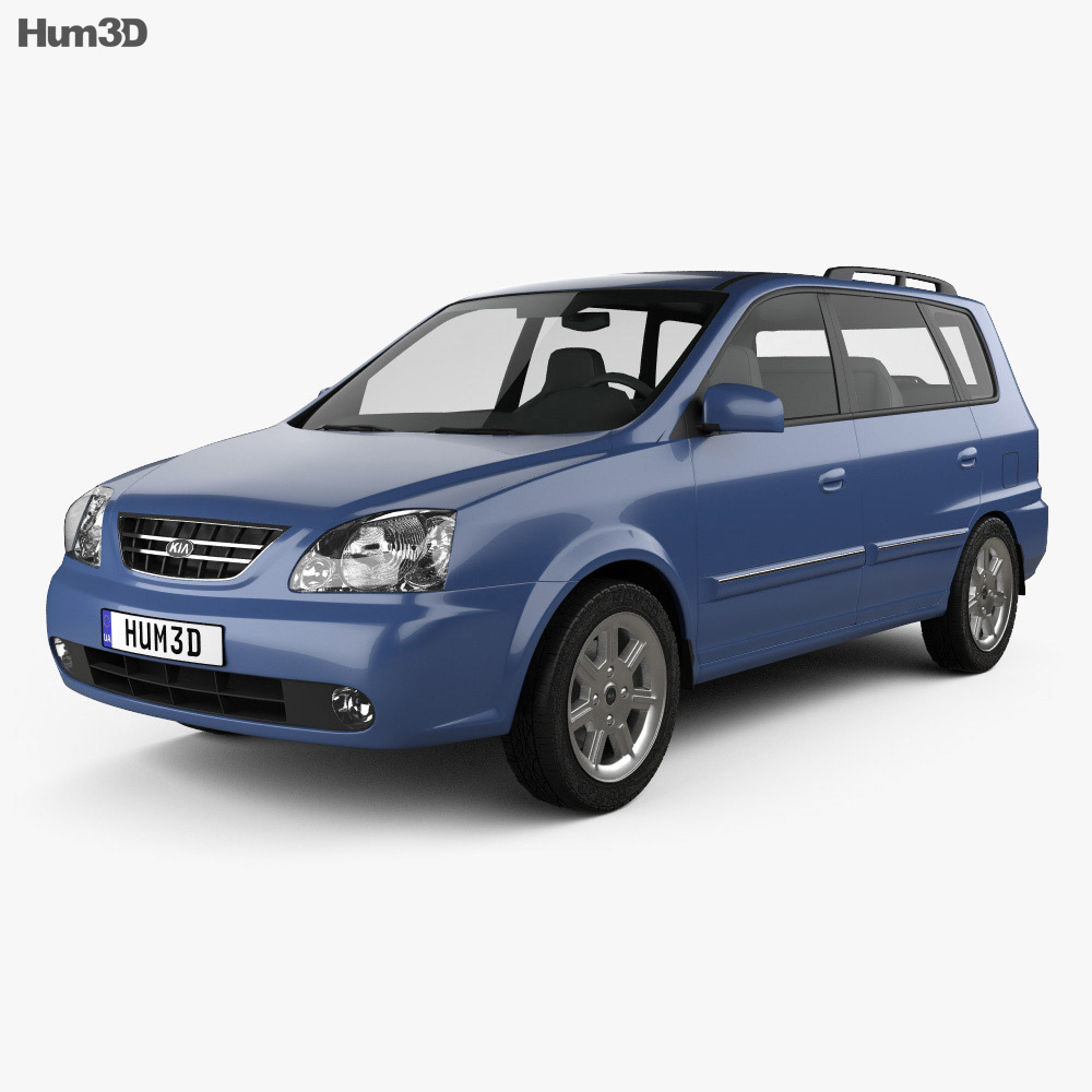 Kia Carens (RS) 2002 3d model