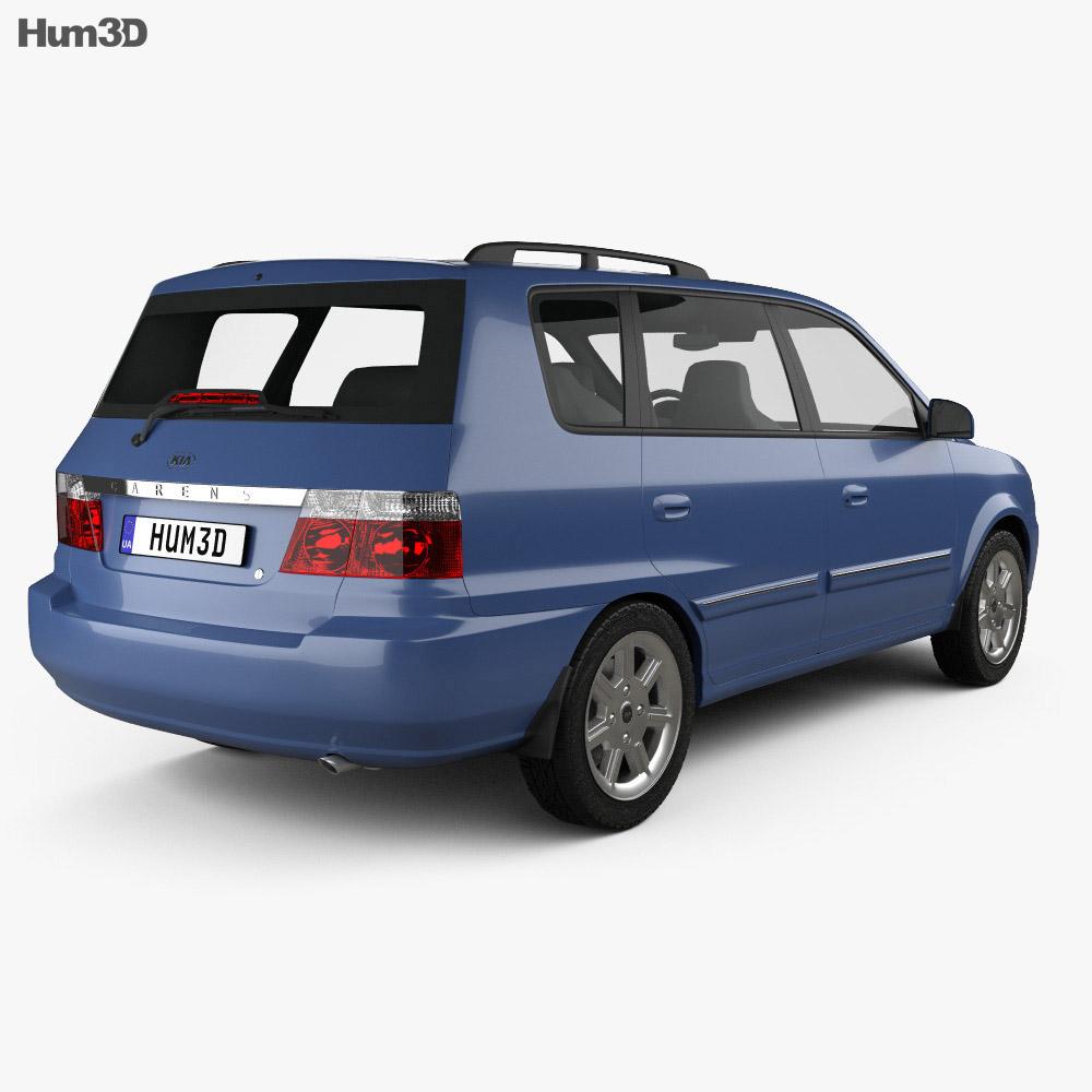 Kia Carens (RS) 2002 3d model back view