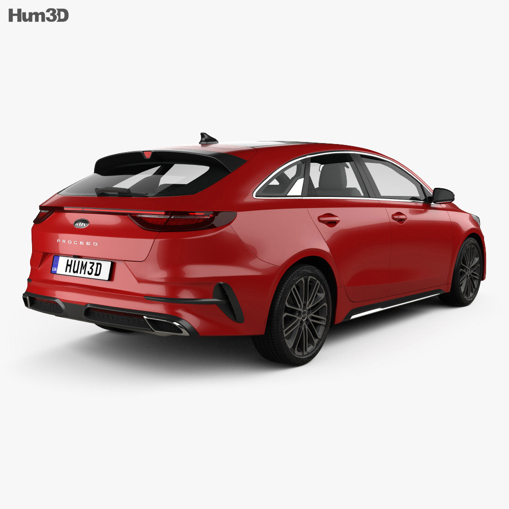 kia ceed pro gt line 2019 3d model vehicles on hum3d. Black Bedroom Furniture Sets. Home Design Ideas