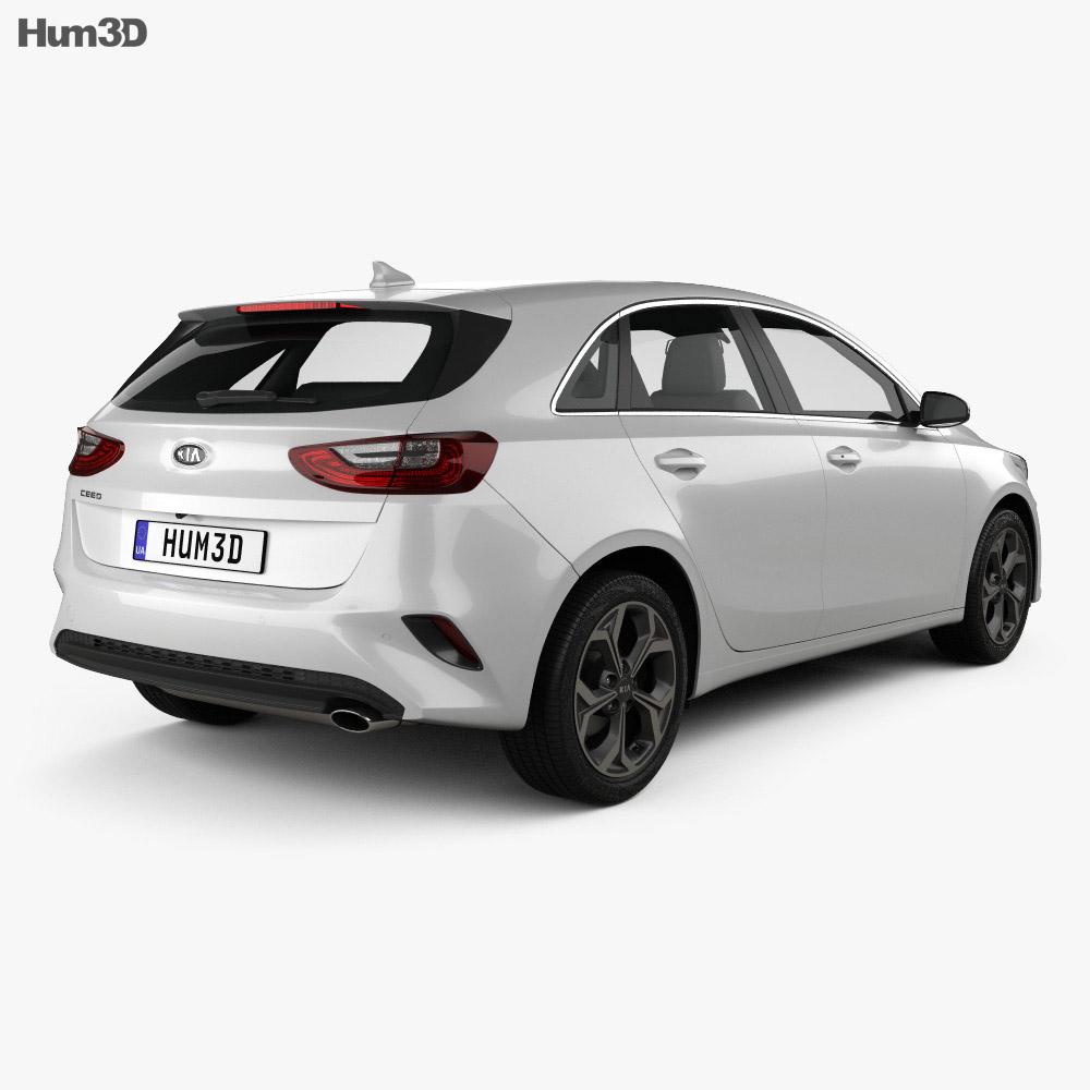 Kia Ceed hatchback 2018 3d model
