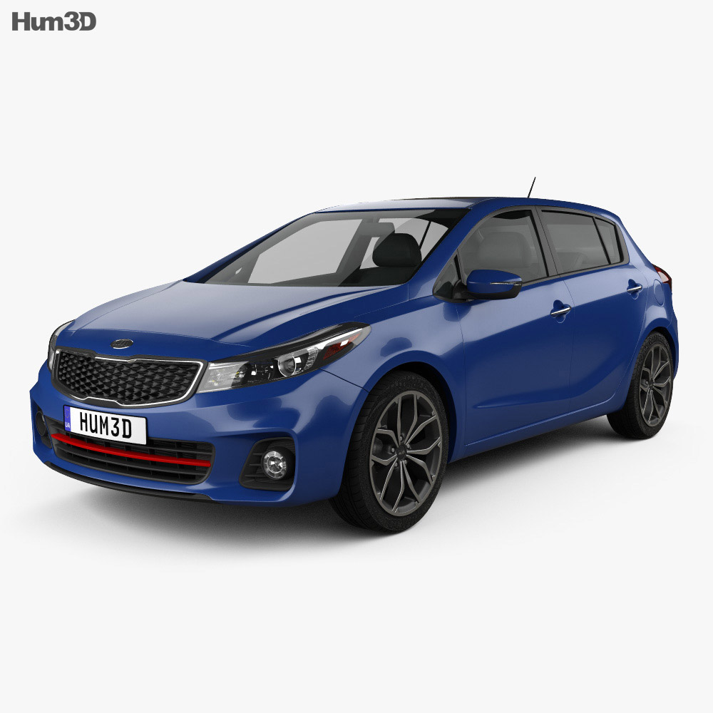 Kia Forte 5-door hatchback 2017 3d model