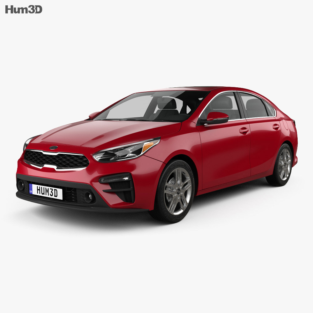 kia forte 2018 3d model vehicles on hum3d. Black Bedroom Furniture Sets. Home Design Ideas