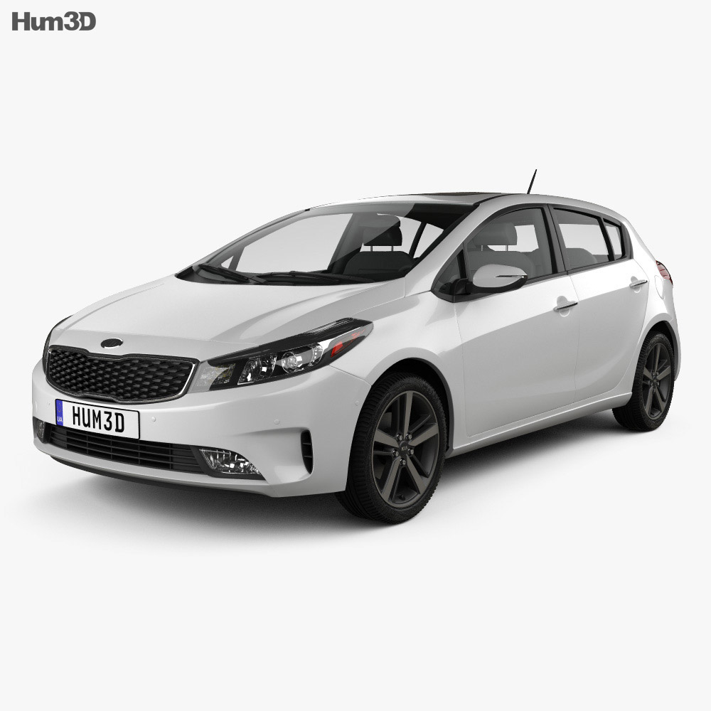 Kia K3 5-door hatchback 2016 3d model