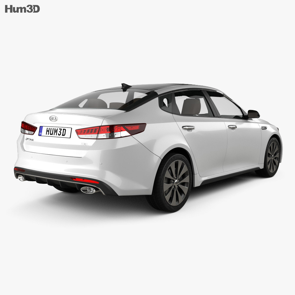 Kia Optima with HQ interior 2016 3d model