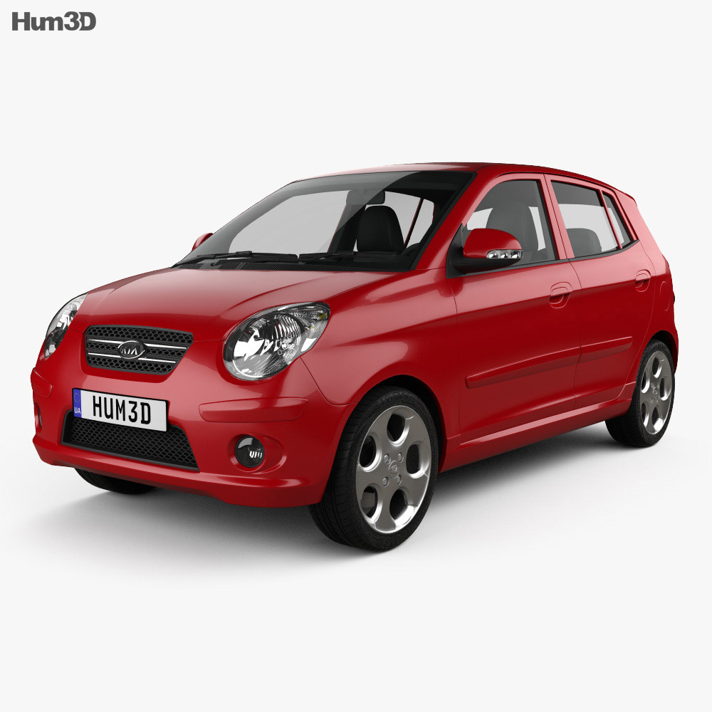 Kia Picanto (Morning) (SA) 2008 3d model