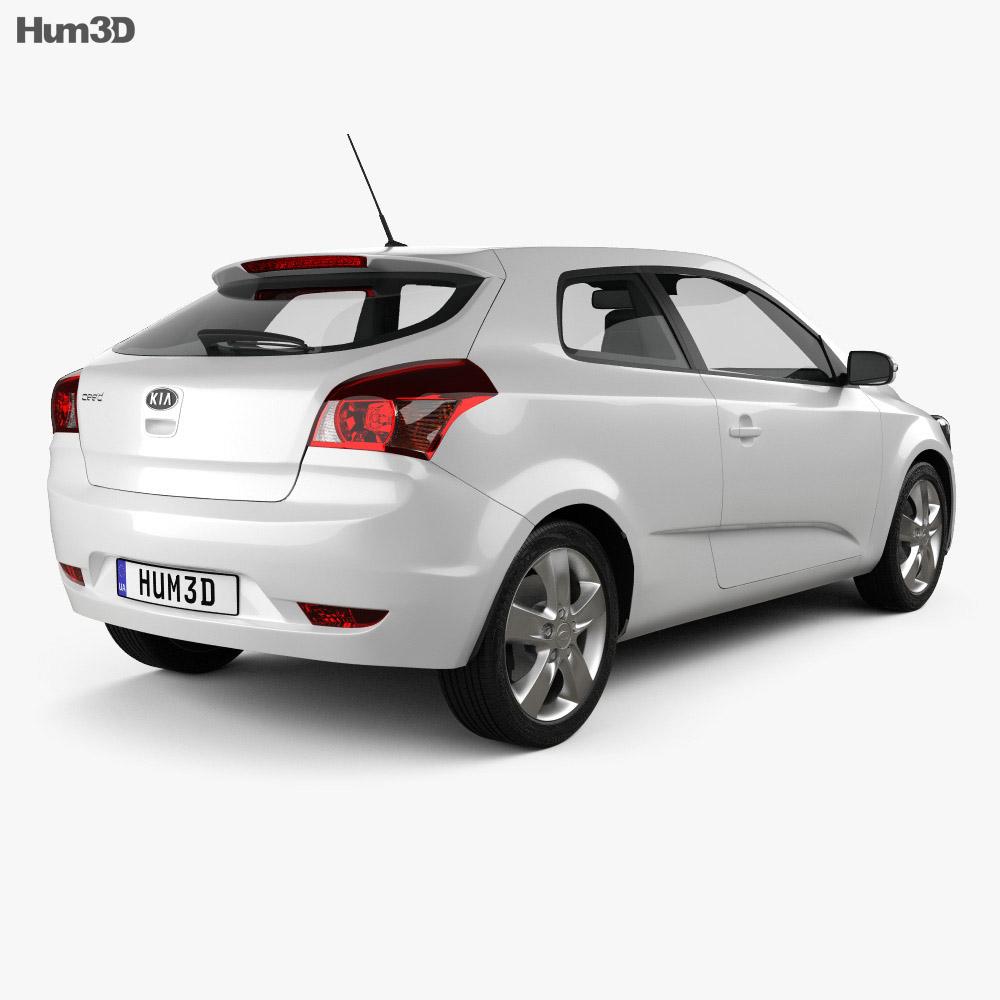 Kia Pro Ceed with HQ Interior 2011 3d model