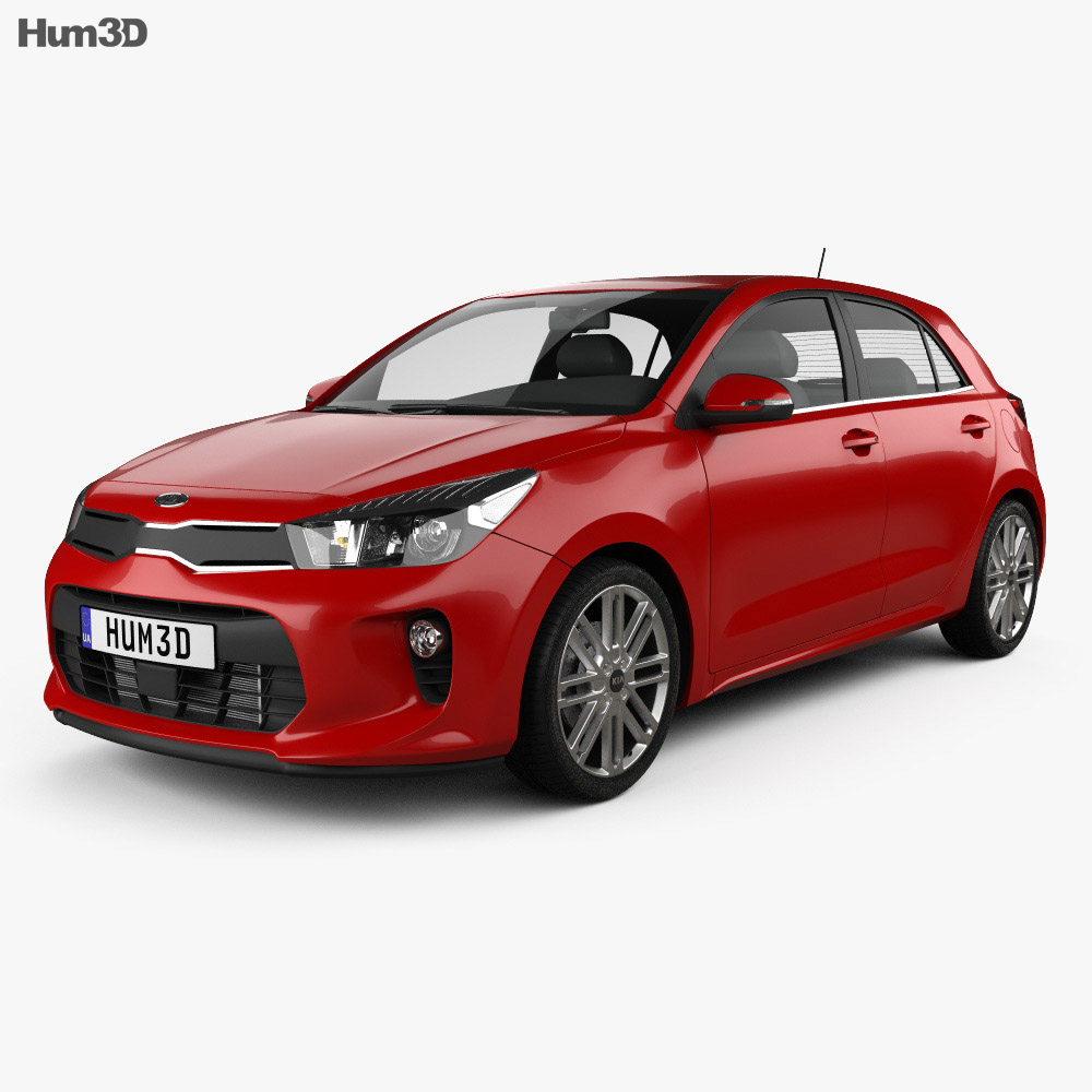 2019 Kia Rio: Kia Rio 5-door Hatchback 2017 3D Model