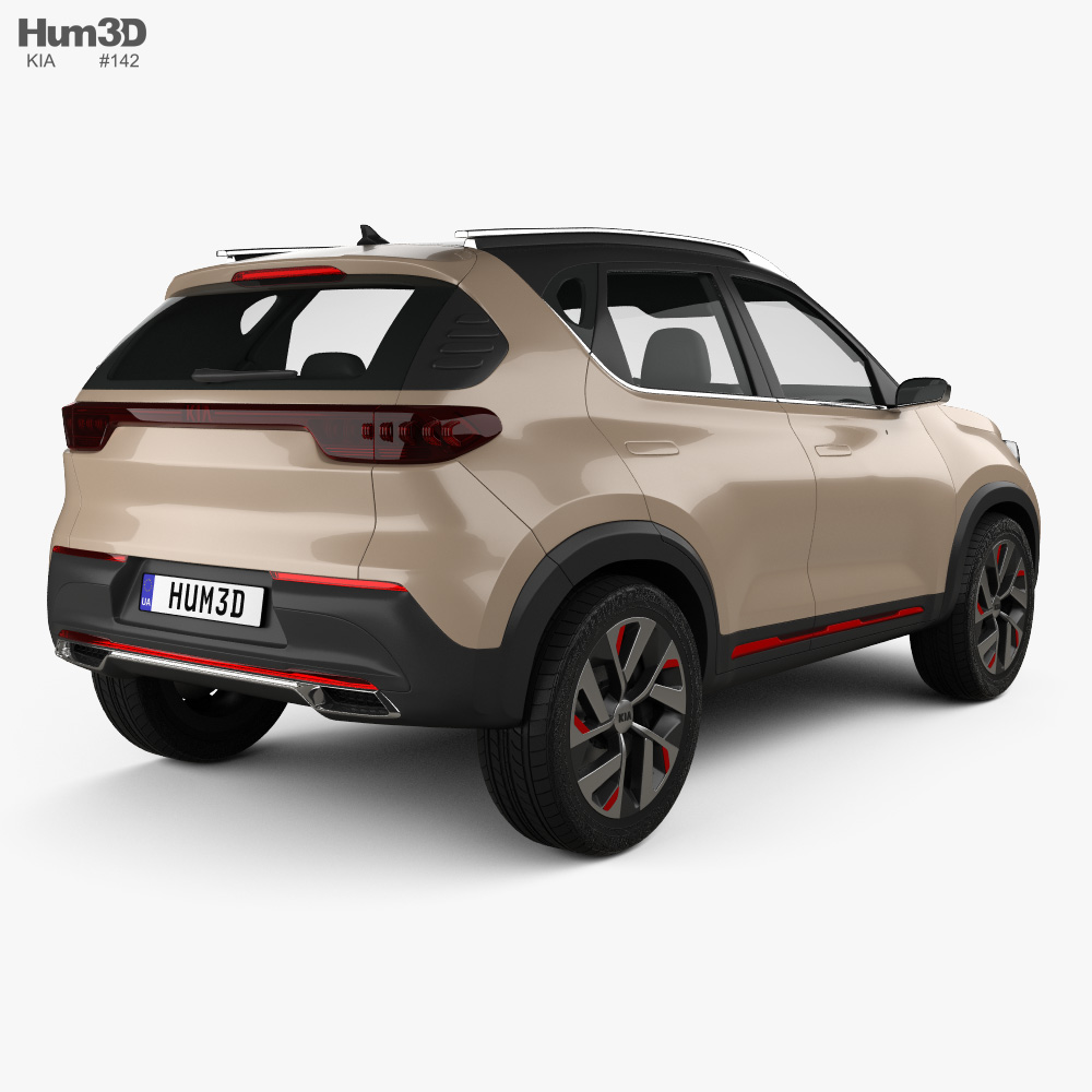 Kia Sonet concept 2020 3d model