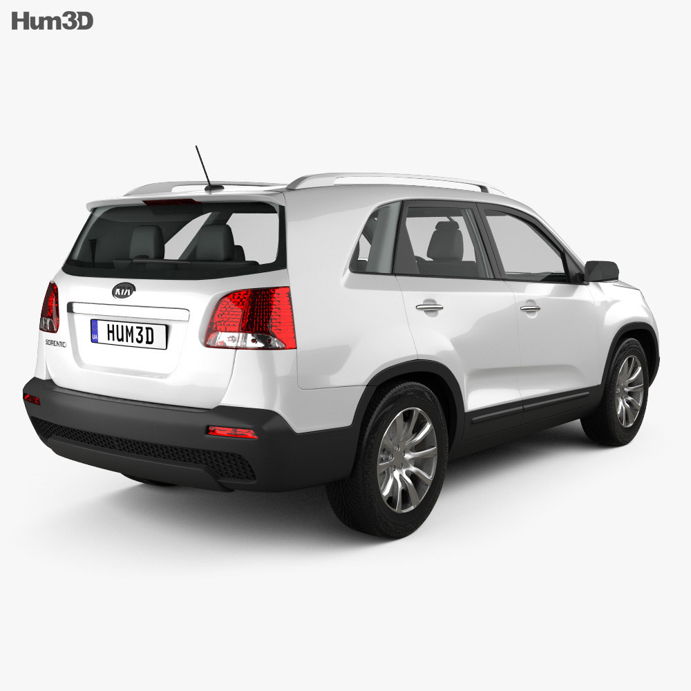 Kia Sorento with HQ Interior 2011 3d model