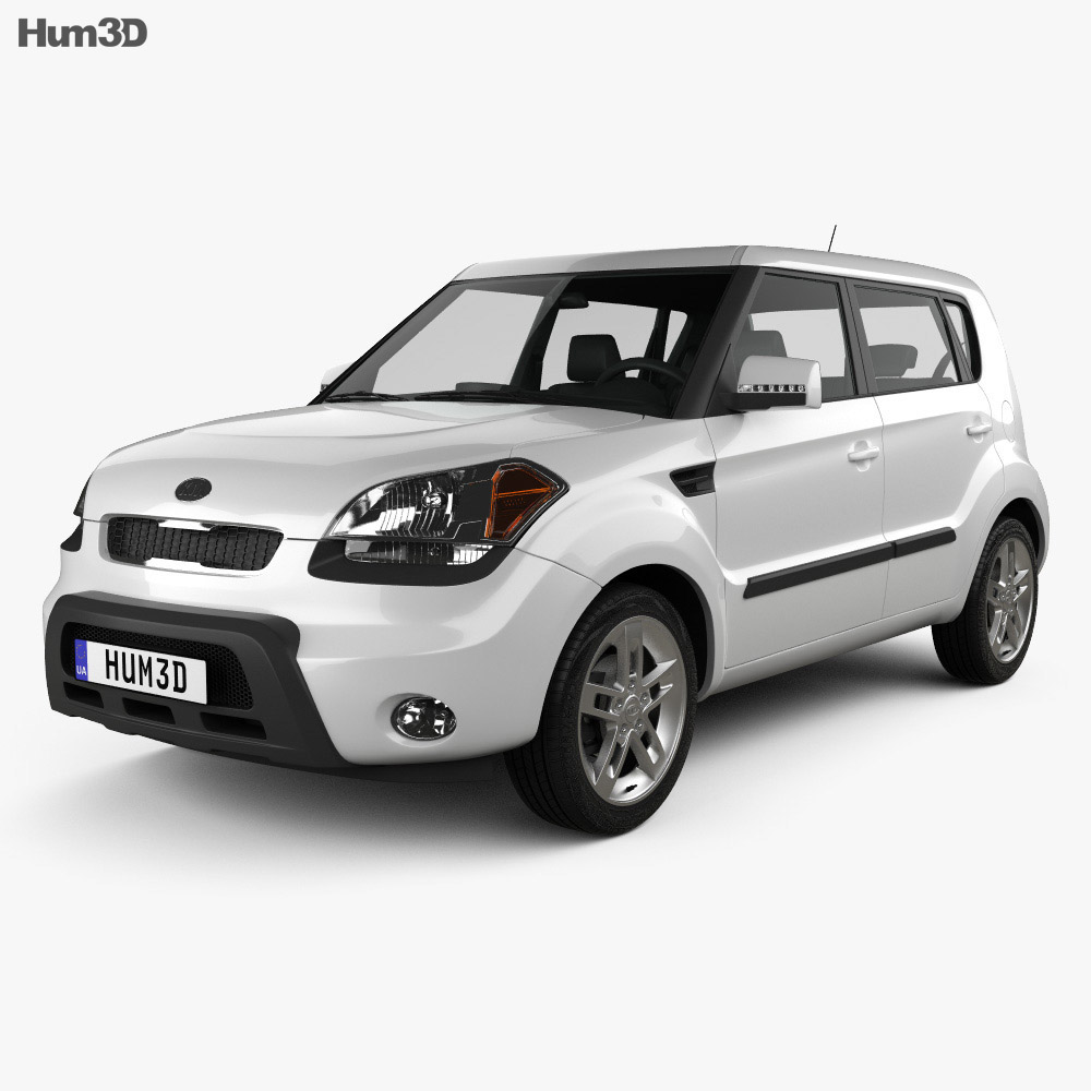Kia Soul with HQ interior 2009 3d model
