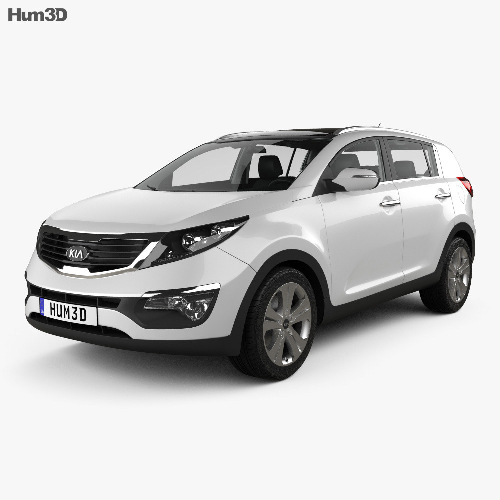 Kia Sportage with HQ Interior 2011 3d model