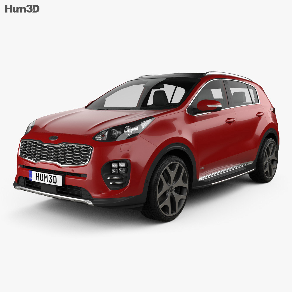 Kia Sportage GT-Line with HQ interior 2016 3d model