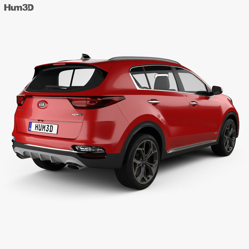 Kia Sportage GT-line 2018 3d model