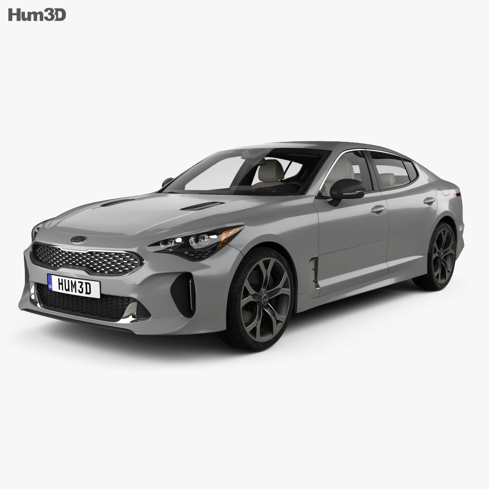 Kia Stinger GT with HQ interior and Engine 2017 3d model