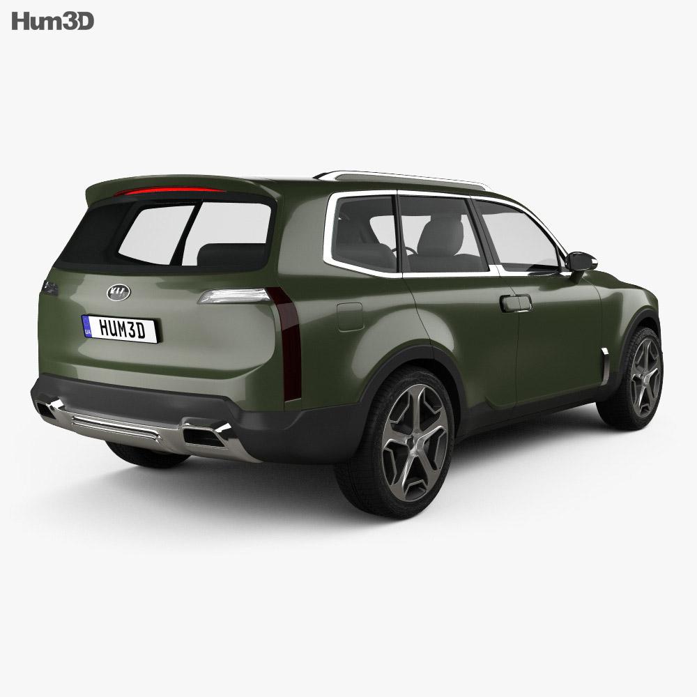 Kia Telluride 2016 3d model