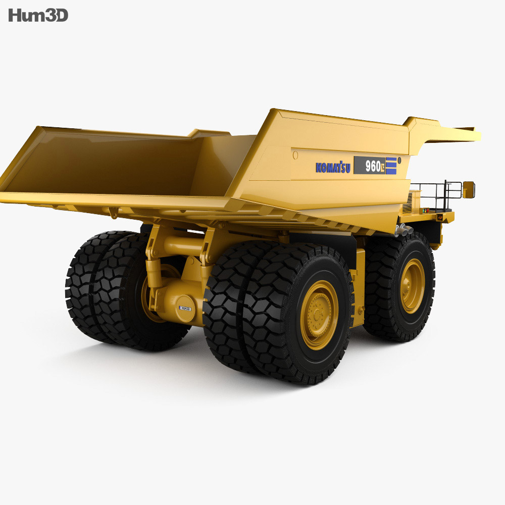 Komatsu 960E Dump Truck 2008 3d model