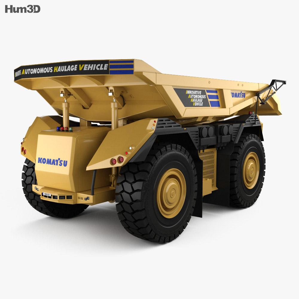 Komatsu AHS Dump Truck 2016 3d model