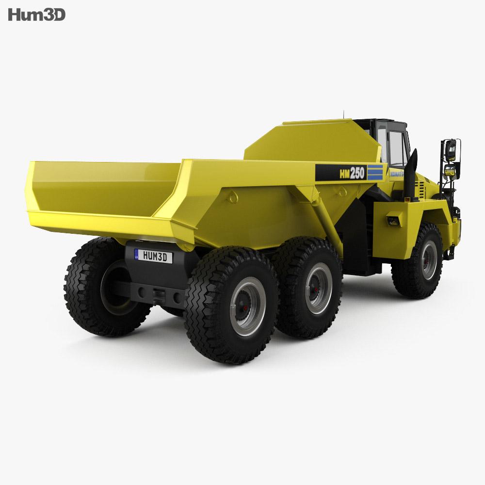 Komatsu HM250 Dump Truck 2008 3d model