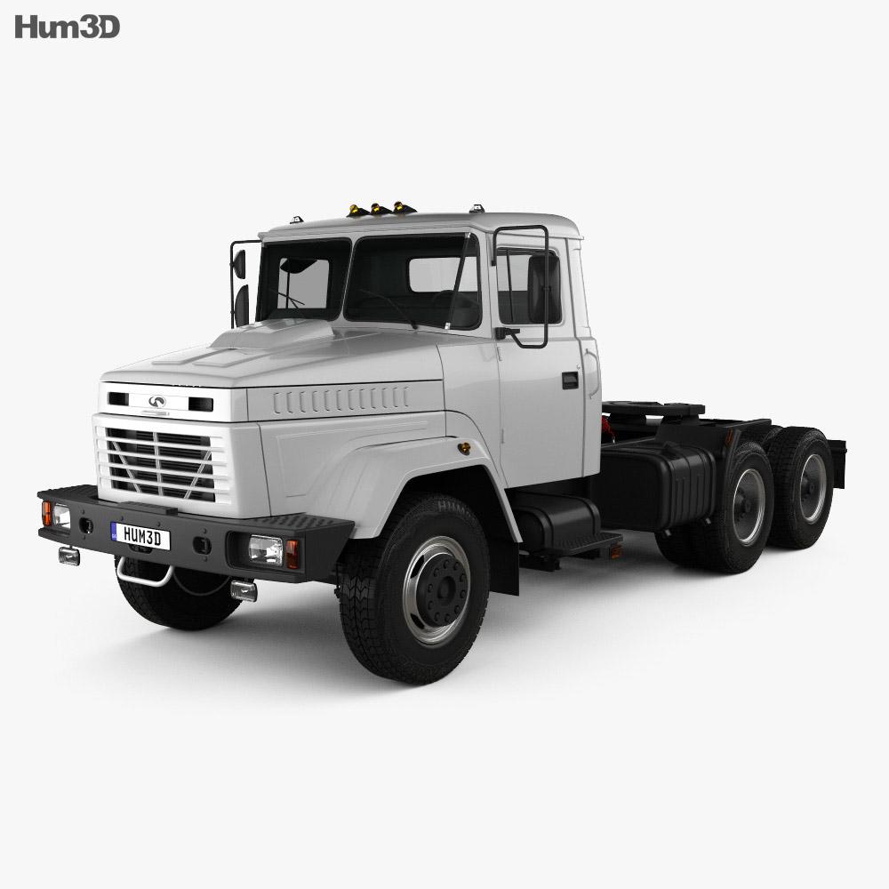 KrAZ 64431 Tractor Truck 1994 3d model