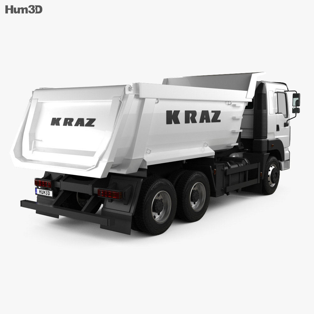 KrAZ C26.2M Tipper Truck 2013 3d model