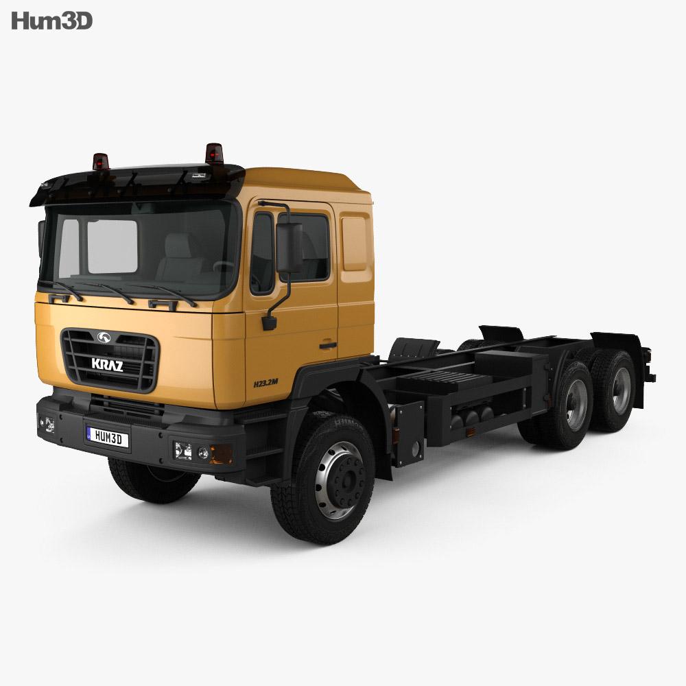 KrAZ H23.2M Chassis Truck 2011 3d model