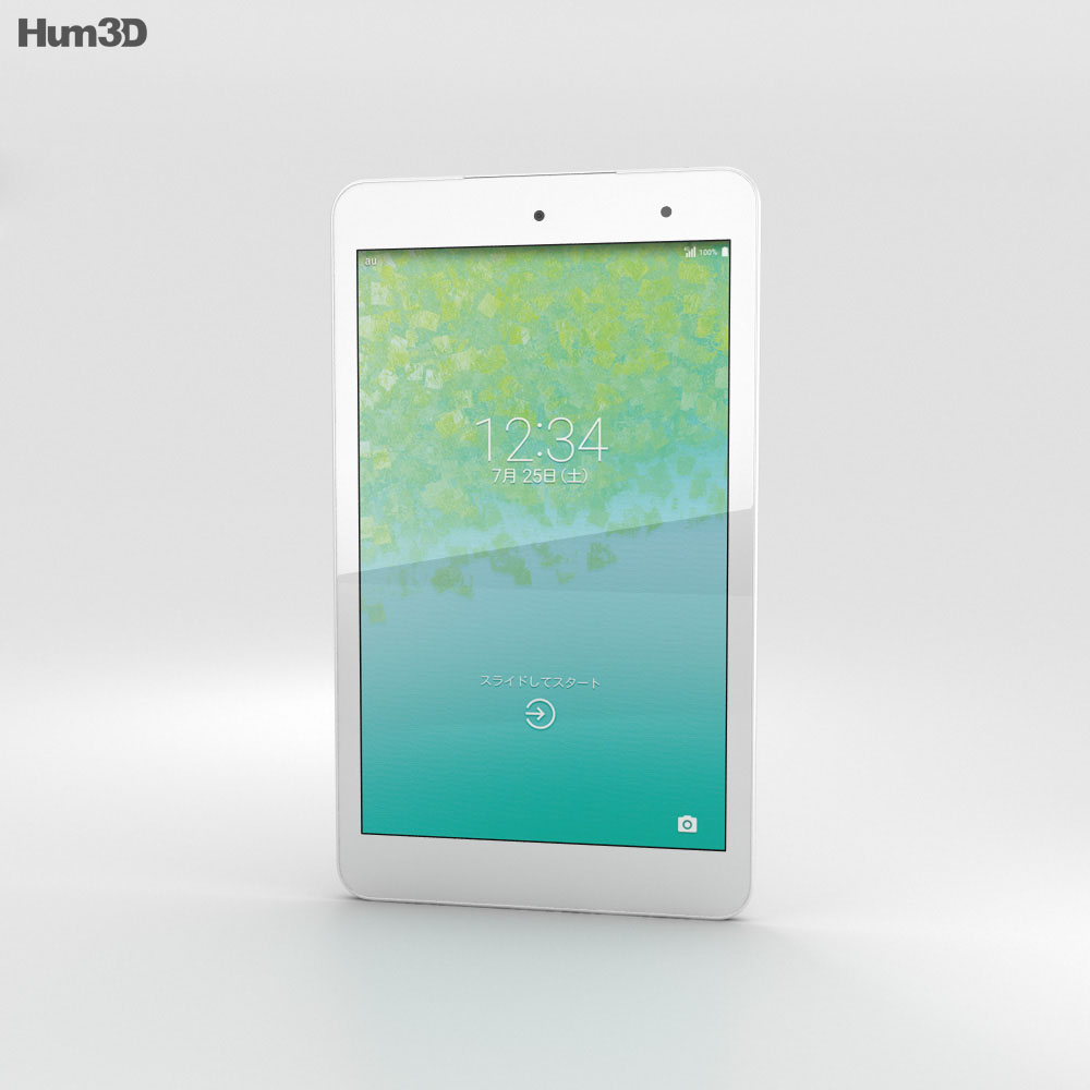 Kyocera Qua Tab 01 White 3d model