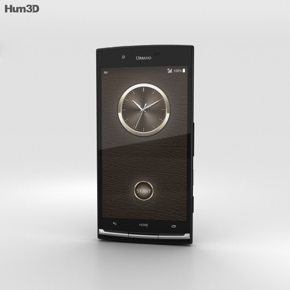 Kyocera Urbano V02 Black 3d model
