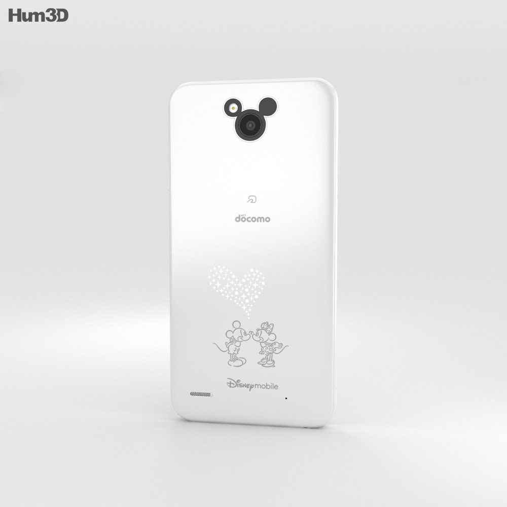 LG Disney Mobile on Docomo DM-02H White 3d model