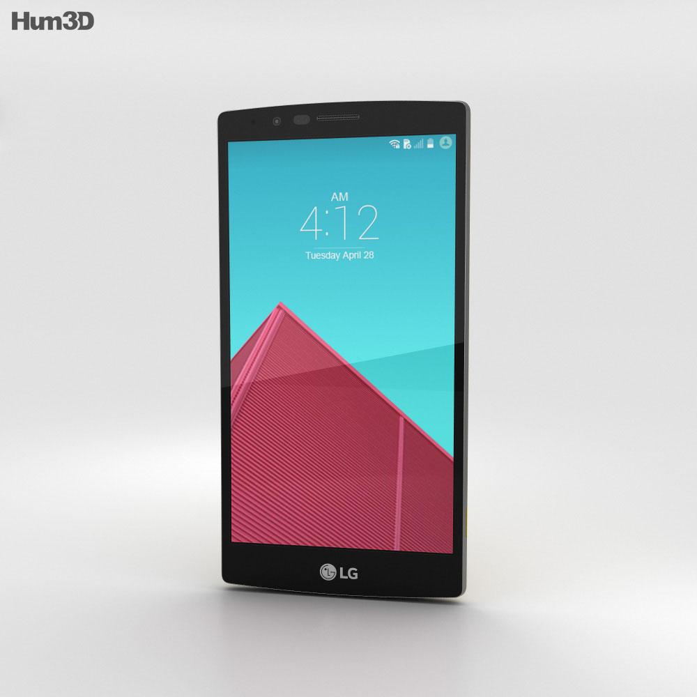 LG G4 Leather Yellow 3d model