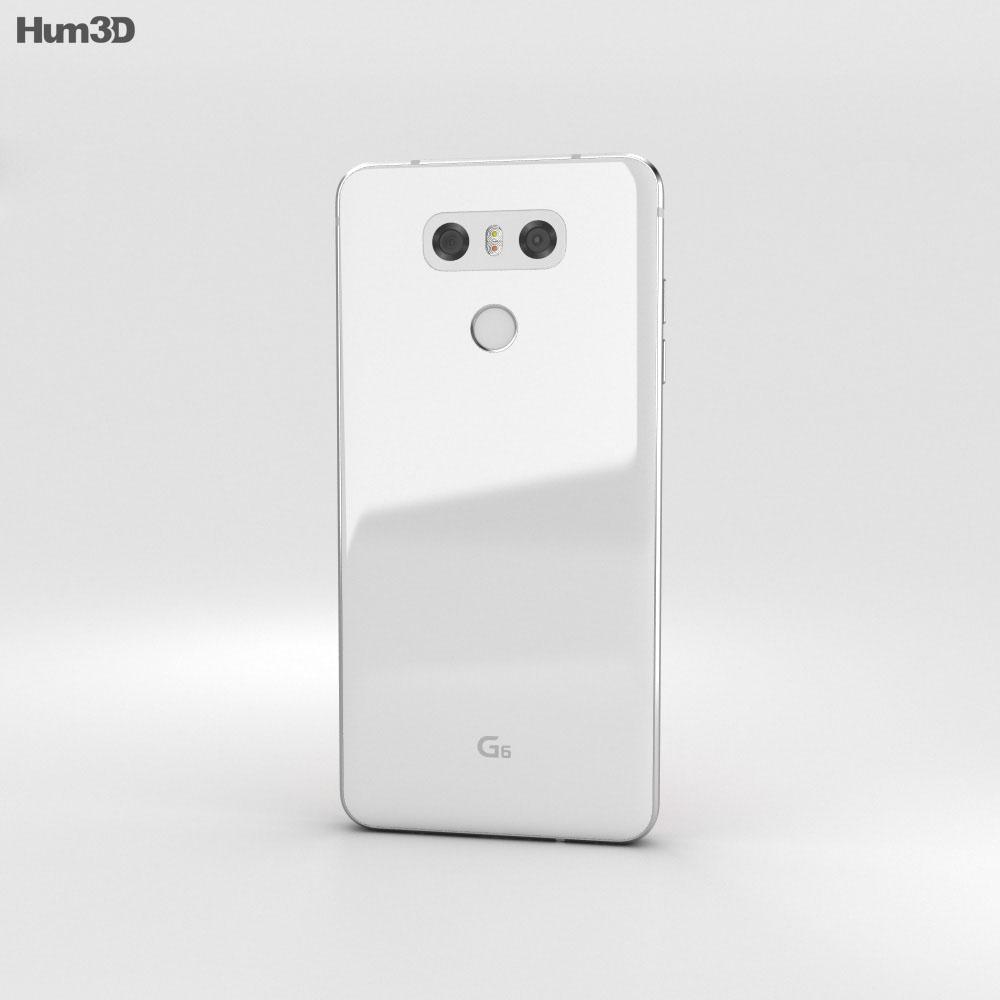LG G6 Mystic White 3d model
