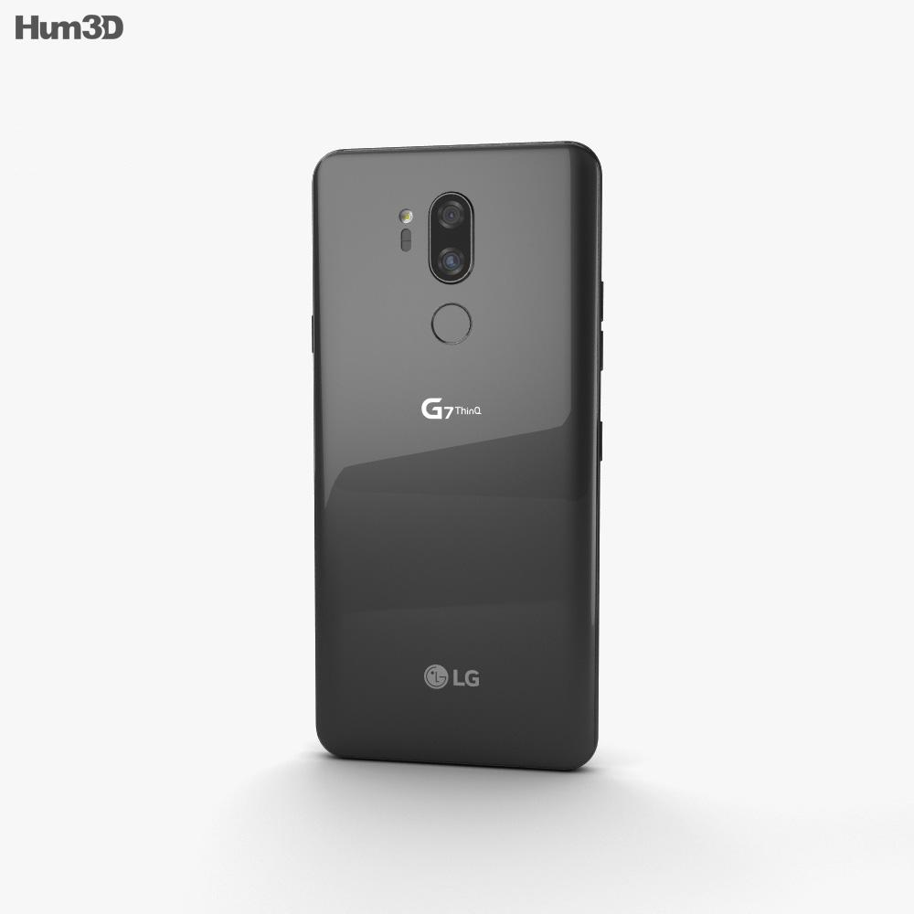 LG G7 ThinQ Aurora Black 3d model